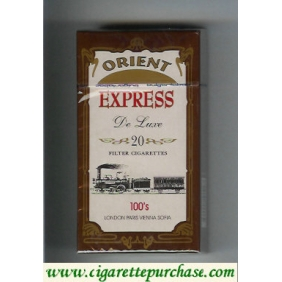 Discount Express Orient De Luxe 100s cigarettes pink and brown hard box