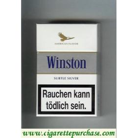 Discount Winston American Flavor Subtle Silver hard box cigarettes