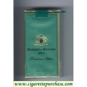 Discount Benson Hedges Menthol 100s cigarettes soft box Premium Filter Menthol Park Avenue
