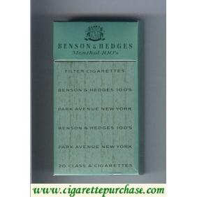 Discount Benson & Hedges Menthol 100s cigarettes hard box