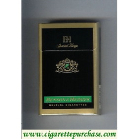 Discount Benson and Hedges Menthol cigarettes Special Kings