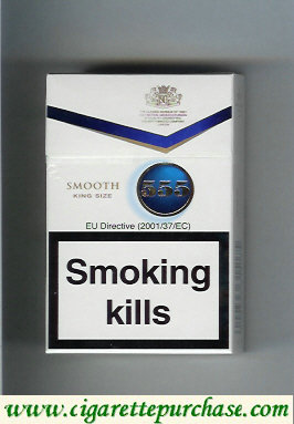 555 Smooth White Cigarettes Low Tar English version