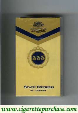 Discount 555 State Express of London Filter Cigarettes