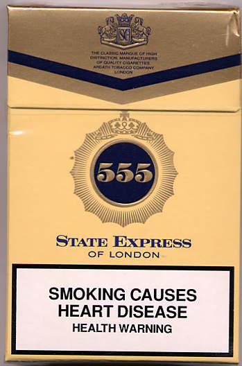 555 State Express of London Singapore Cigarettes