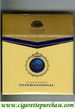 Discount 555 State Express International USA Cigarettes