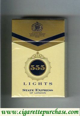 Discount 555 Lights State Express of London Cigarettes