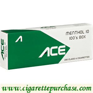 Discount ACE Menthol 10 100's Box Cigarettes