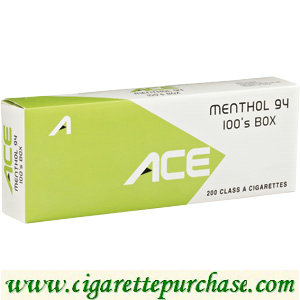 Discount ACE Menthol 94 100's Box Cigarettes