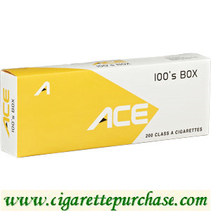 Discount ACE 100's Yellow box Cigarettes