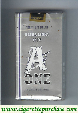A One 100s cigarettes (Premium Blend Ultra Light)