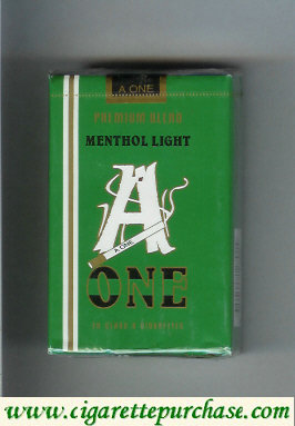 A One Menthol Light cigarettes Premium Blend