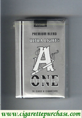 A One Premium Blend Ultra Lights cigarettes
