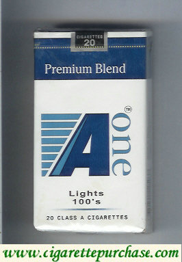 A One Lights 100s cigarettes Premium Blend (vertical 'One')
