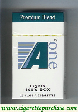 A One Lights 100s box cigarettes (vertical 'One') (Premium Blend )