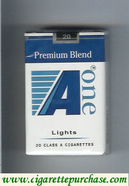 A One Premium Blend Lights cigarettes (vertical 'One')