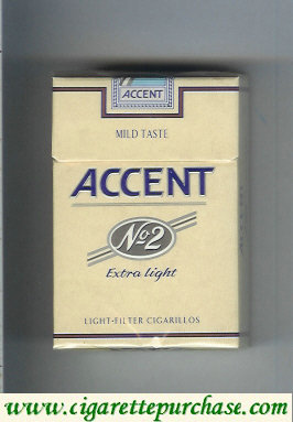 Accent No.2 Extra Light Cigarettes