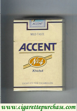 Accent No.4 Kretek Cigarettes