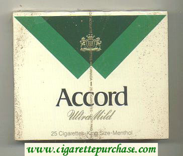 Accord Ultra Mild Menthol Cigarettes