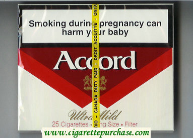 Accord Ultra Mild Filter Cigarettes