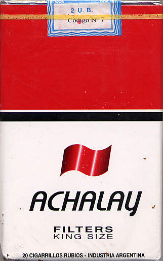 Achalay Filters King Size Cigarettes Argentina