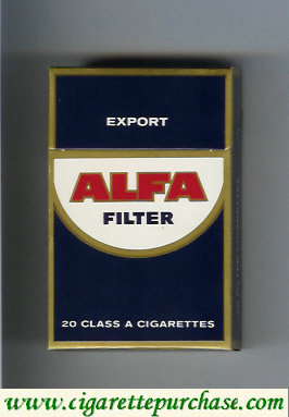 Alfa Export Filter cigarettes