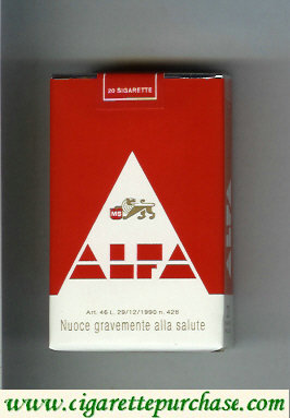 Alfa red cigarettes soft box