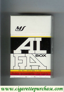 Alfa box cigarettes