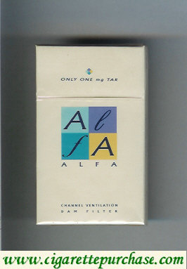 Alfa cigarettes japan