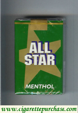 All Star Menthol cigarettes