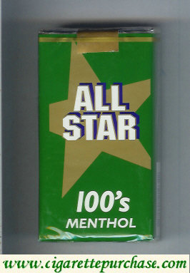 All Star 100's Menthol cigarettes