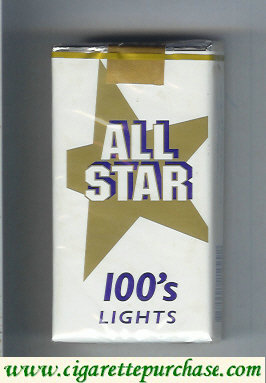 All Star 100s Lights cigarettes