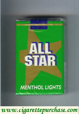 Discount All Star Menthol Lights cigarettes