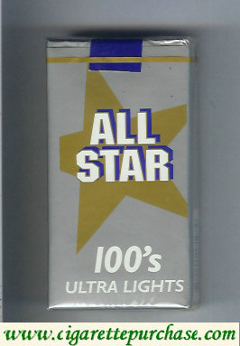 All Star 100s Ultra Lights cigarettes