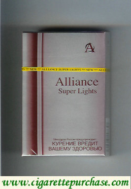 Alliance Super Lights cigarettes