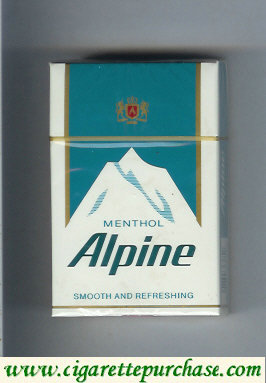 Alpine Menthol smooth and refreshing cigarettes