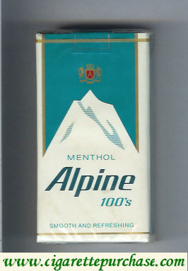 Alpine Menthol 100s cigarettes soft box