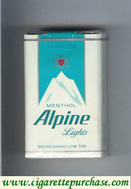 Alpine Menthol Lights cigarettes