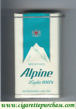 Alpine Menthol Lights 100s cigarettes