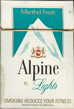 Alpine Menthol Lights 15 cigarettes Australia