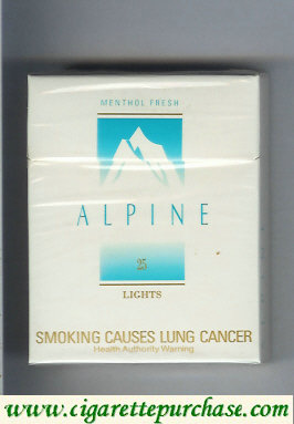 Alpine Menthol Lights cigarettes Australia
