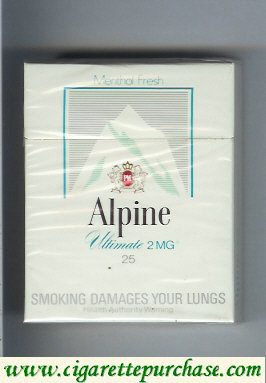 Alpine Menthol Ultimates cigarettes