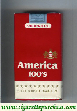 Discount America 100s red cigarettes