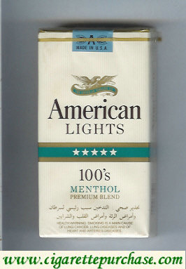 American Lights 100s Menthol cigarettes USA