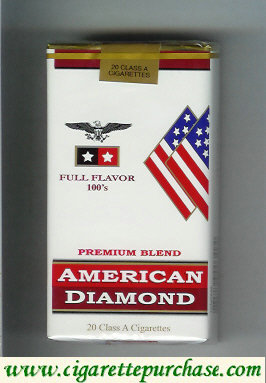 Discount American Diamond 100s Full cigarettes Flavor Premium Blend