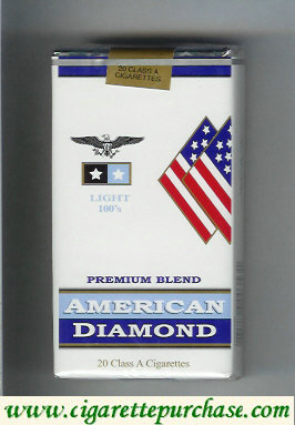 Discount American Diamond 100s Light cigarettes Premium Blend
