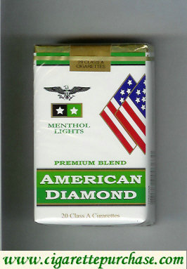 Discount American Diamond Menthol Lights Cigarettes Premium Blend
