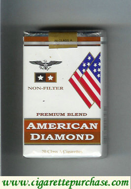 Discount American Diamond Non-Filter cigarettes Premium Blend