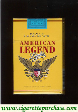 American Legend Lights cigarettes Yellow