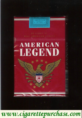 Discount American Legend Cigarettes red