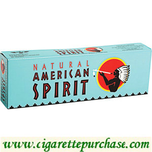 Discount American Spirit Cigarettes Full-Bodied Taste Blue Box